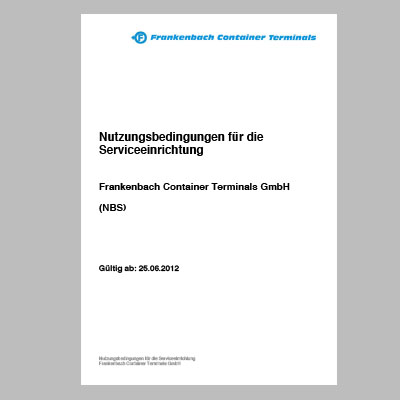 Container Service Nutzungsbedingungen