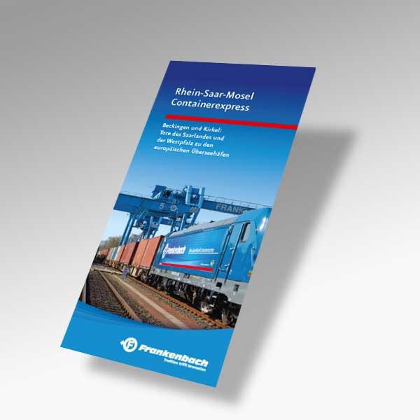 Informations-broschüre Rhein-Saar-Mosel Containerexpress :